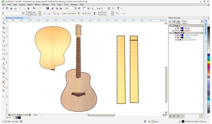 Final guitar design without codes