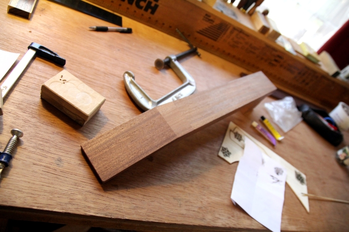 Early preparation of the neck and headstock
