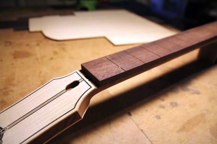 Neck with fingerboard