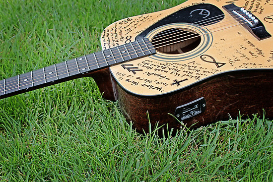 Signed Guitar The Industry Plays To