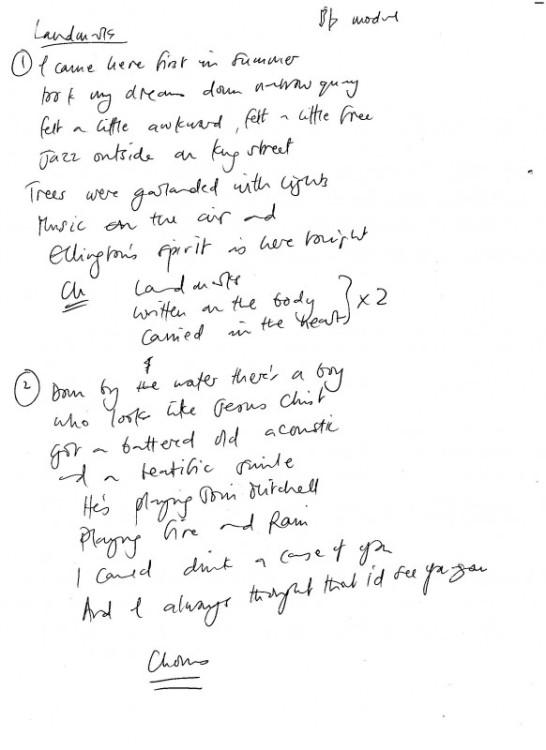 Landmarks lyrics 1