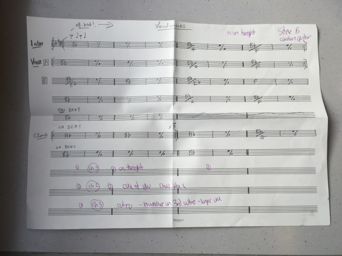 chord sheet
